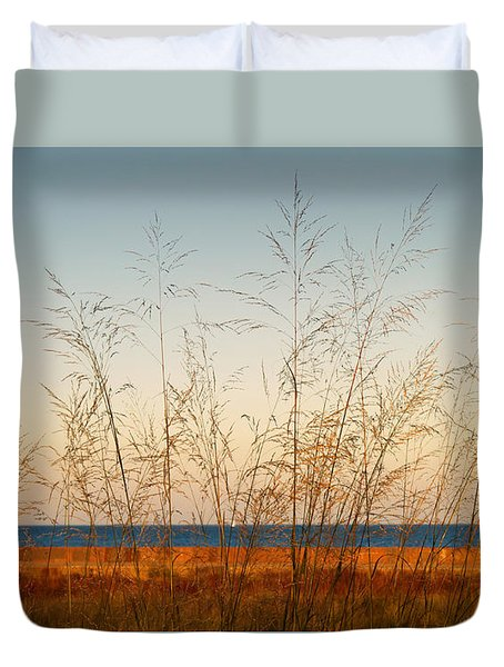 Duvet Cover featuring the photograph On The Beach by Milena Ilieva