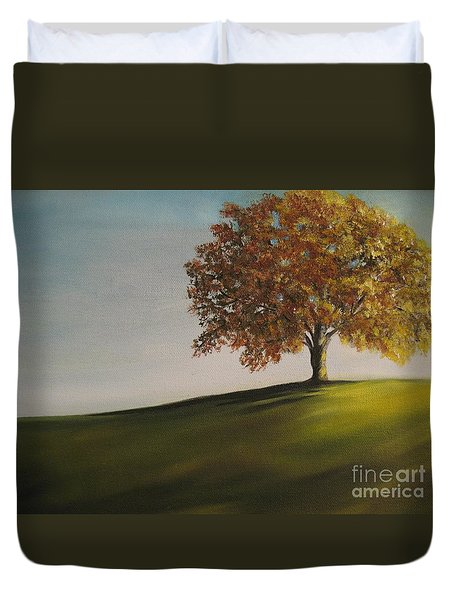 On The Bike Trail Duvet Cover by Carol Sweetwood