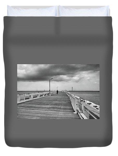 On The Boardwalk 2 Duvet Cover