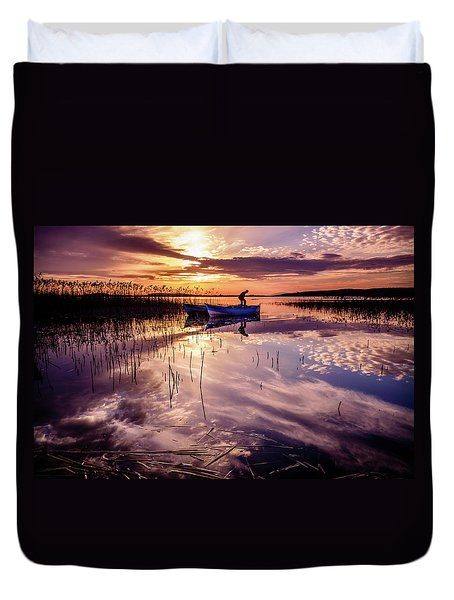 On The Boat Duvet Cover
