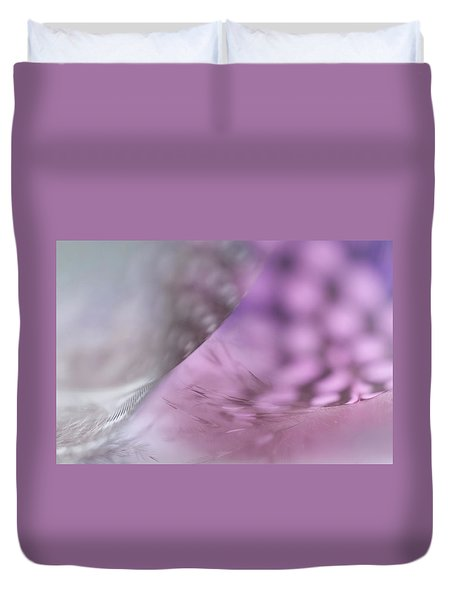 Duvet Cover featuring the photograph On The Brink Of A Foul. Angels Flight Series by Jenny Rainbow