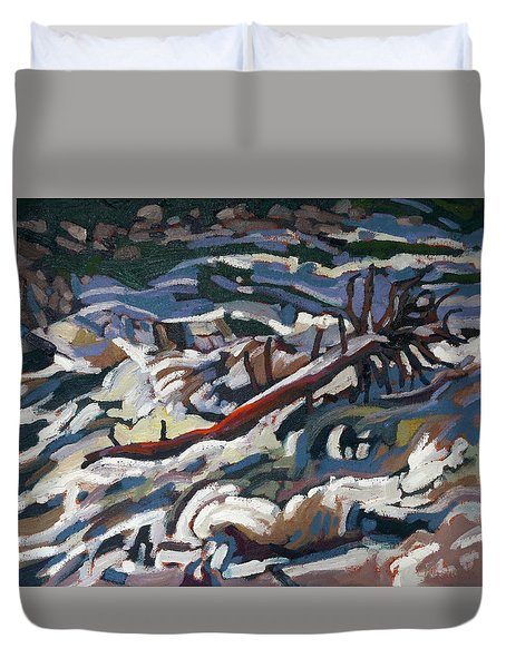 On The Brink Of Grande Chute Duvet Cover