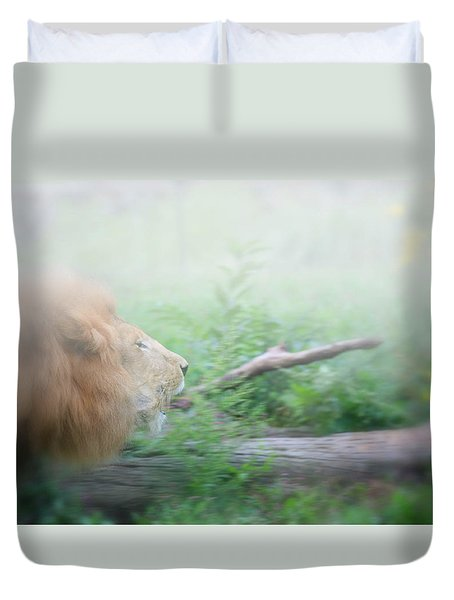 On The Charge Duvet Cover by Karol Livote
