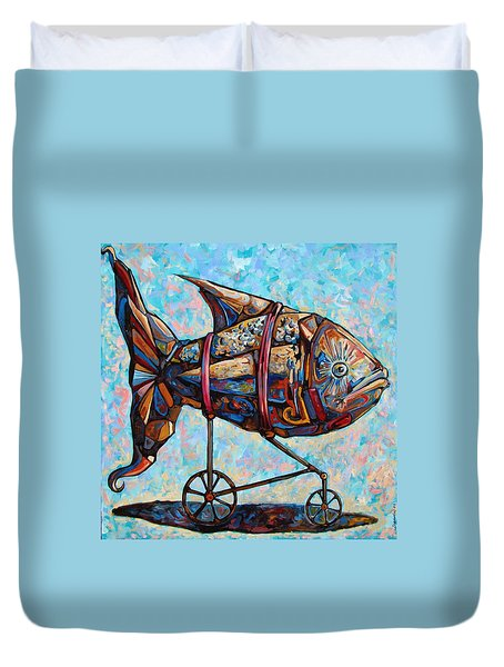On The Conquer For Land Duvet Cover