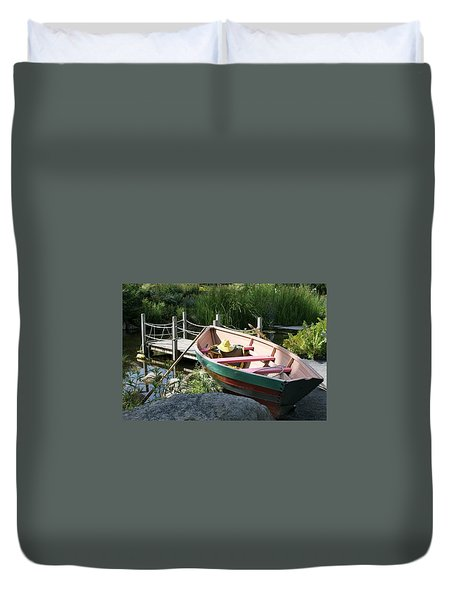 On The Dock Duvet Cover by Lois Lepisto