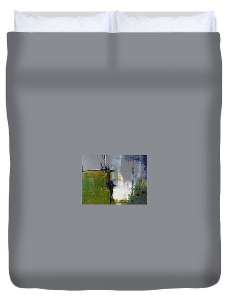 On The Edge Duvet Cover by Becky Chappell