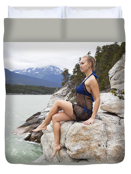 On The Edge Duvet Cover