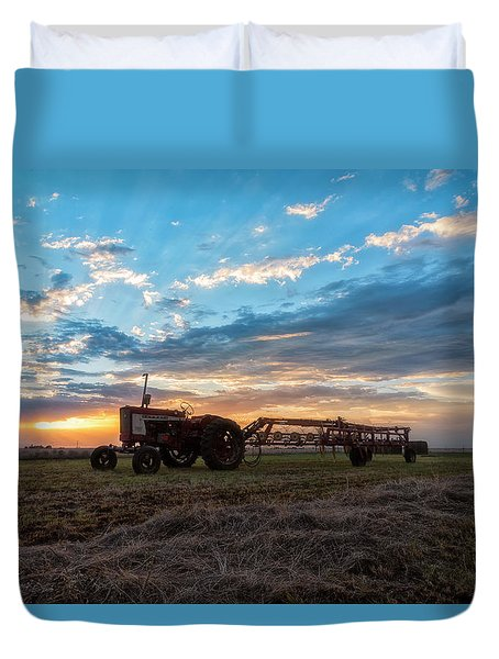 Duvet Cover featuring the photograph On The Farm by Russell Pugh