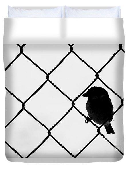 On The Fence Duvet Cover by Afrodita Ellerman