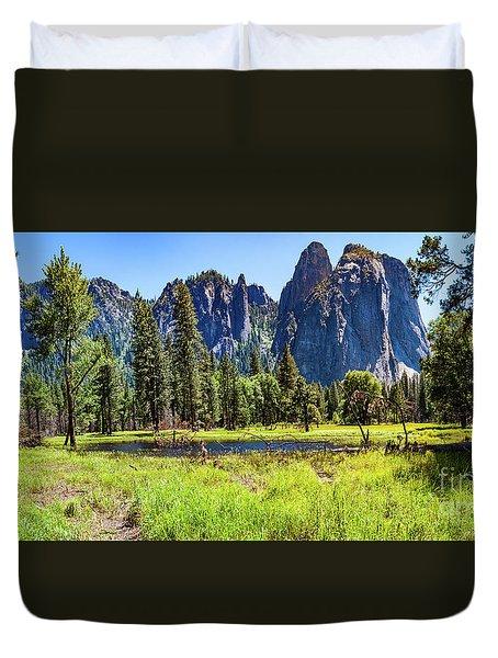 On The Floor Of Yosemite Duvet Cover