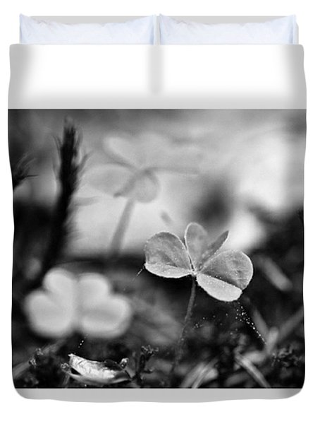 On The Forest Floor  #monochrome Duvet Cover