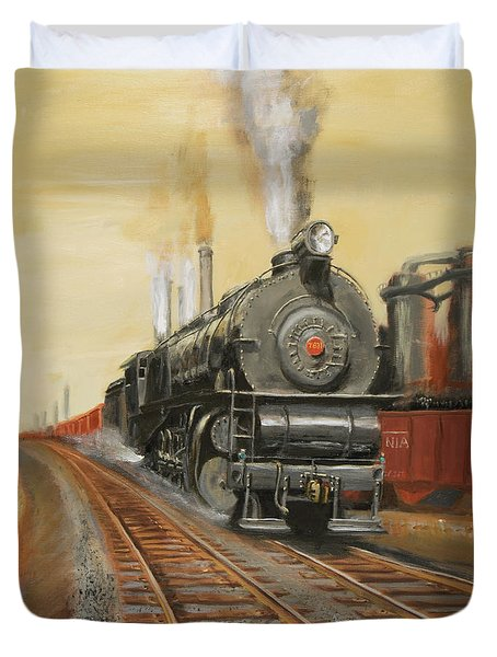 On The Great Steel Road Duvet Cover by Christopher Jenkins