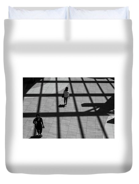 On The Grid Duvet Cover