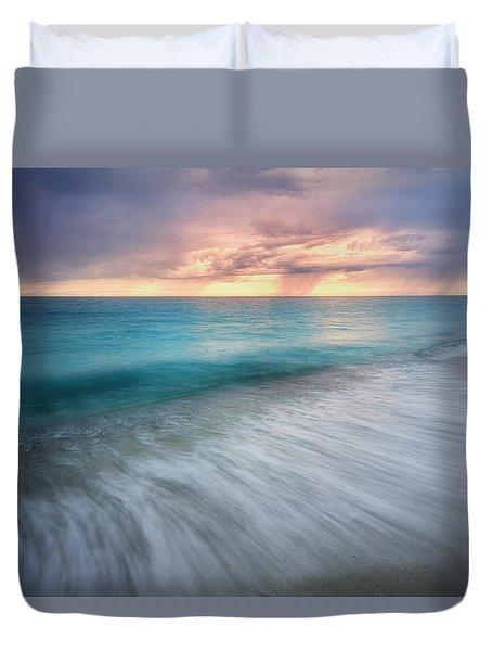 On The Horizon  Duvet Cover by Nicki Frates