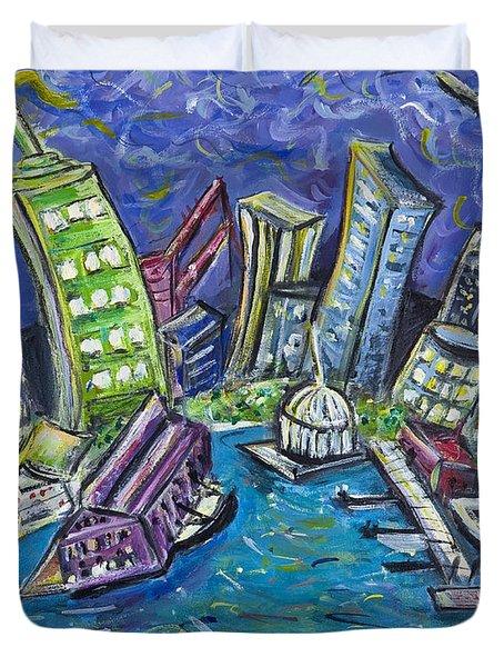 On The Hudson Duvet Cover by Jason Gluskin