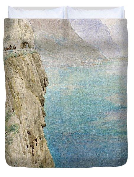 On The Italian Coast Duvet Cover by Harry Goodwin