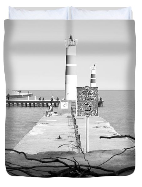 Duvet Cover featuring the photograph On The Lake Shore by Milena Ilieva