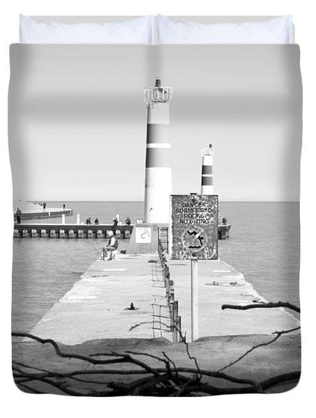 On The Lake Shore Duvet Cover by Milena Ilieva