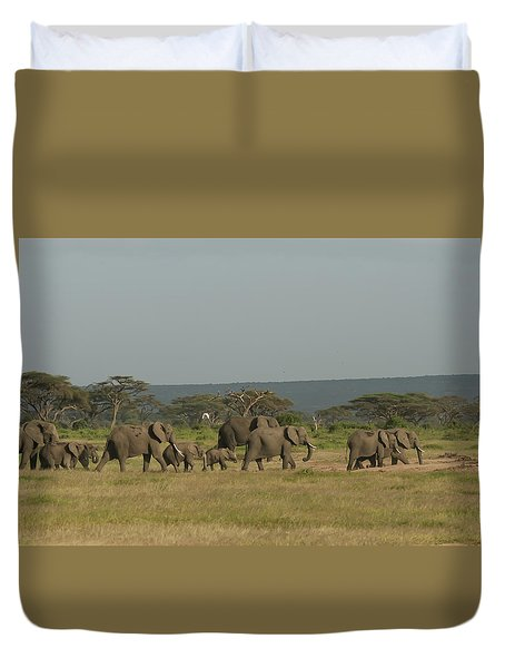 Duvet Cover featuring the photograph On The Move by Gary Hall