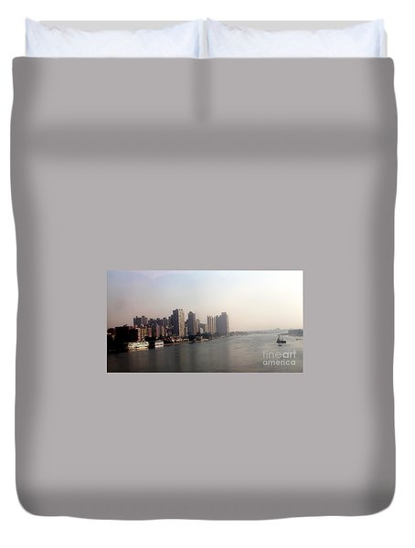 On The Nile River Duvet Cover