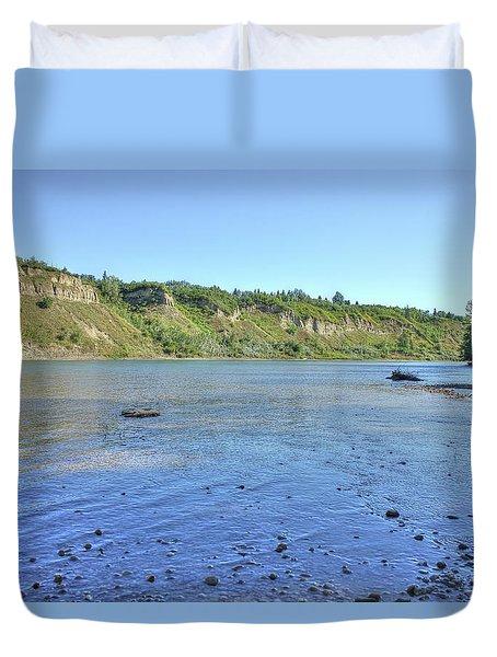 On The North Saskatchewan River Duvet Cover