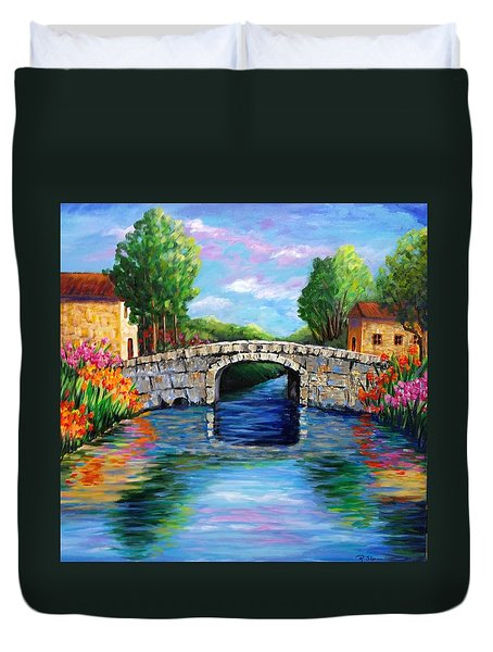 On The Other Side Of The Bridge Duvet Cover