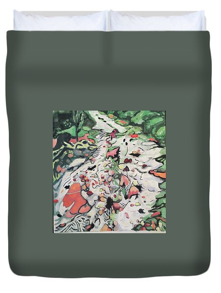 On The Path Duvet Cover