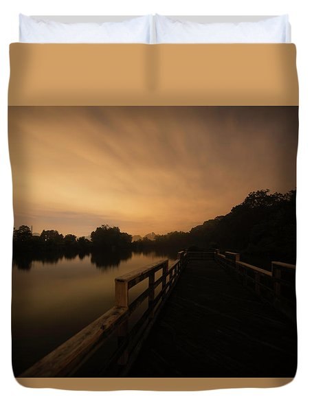 On The Pier Duvet Cover