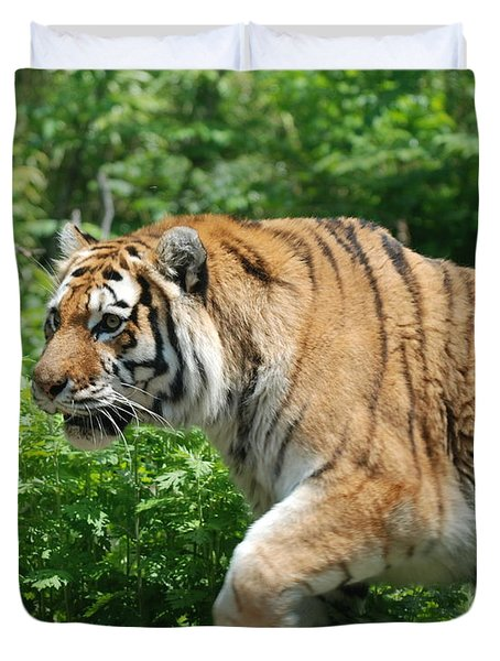 Duvet Cover featuring the photograph On The Prowl by Richard Bryce and Family