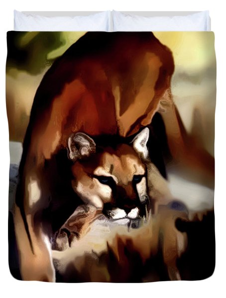 On The Prowl Duvet Cover by Vic Weiford