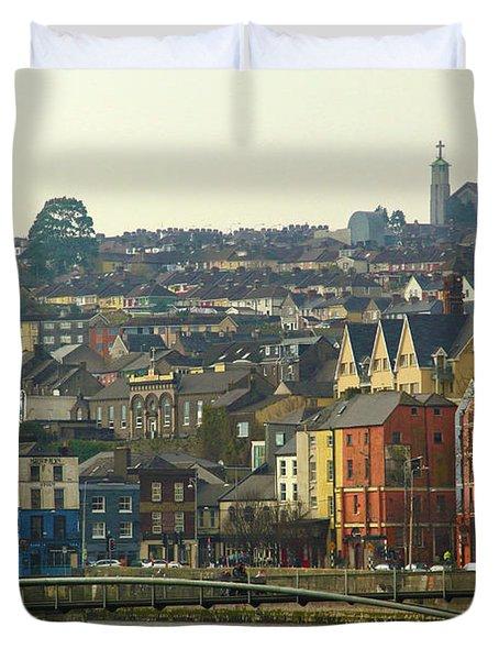 On The River Lee, Cork Ireland Duvet Cover