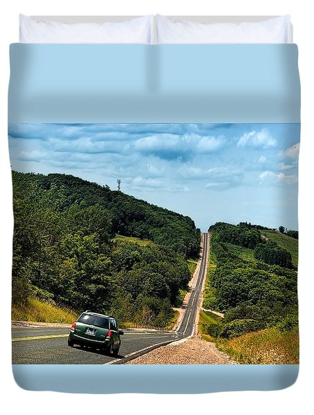On The Road Again Duvet Cover by Jeff S PhotoArt