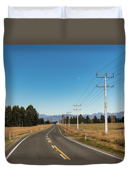 Duvet Cover featuring the photograph On The Road by Gary Eason