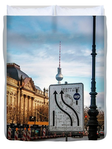 On The Road In Berlin Duvet Cover