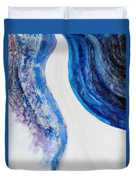 On The Road In Blue Duvet Cover
