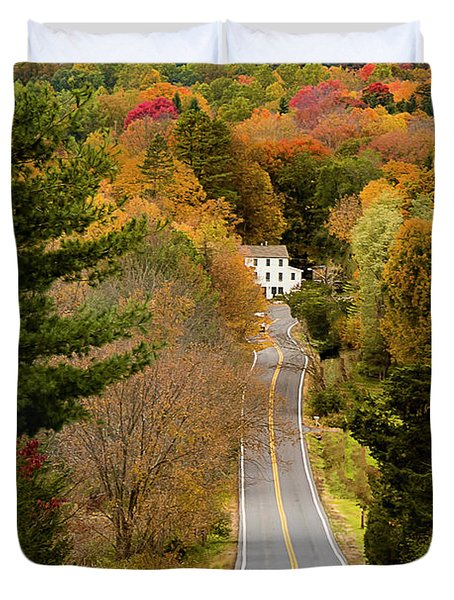 On The Road To New Paltz Duvet Cover