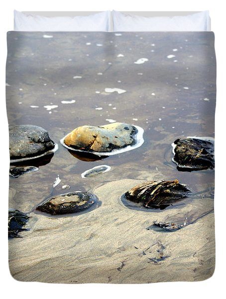 On The Rocks Duvet Cover by Marty Koch