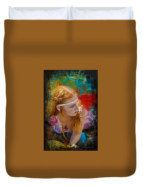 On The Rocks  Duvet Cover by Pamela Patch