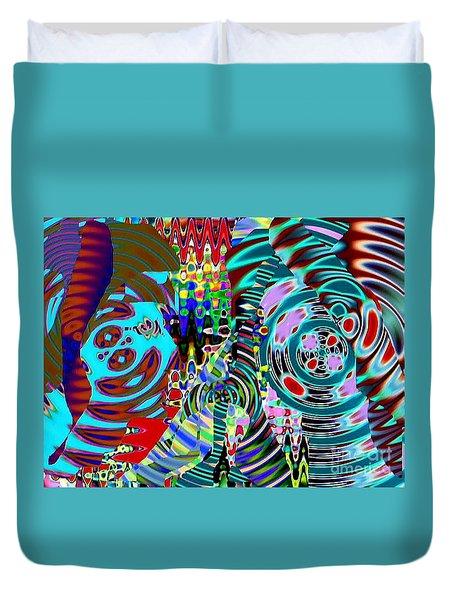 On The Same Wavelength Duvet Cover by Navo Art