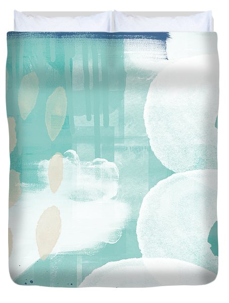 On The Shore- Abstract Painting Duvet Cover