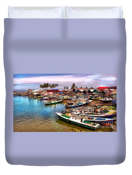 On The Shore Duvet Cover by Charuhas Images