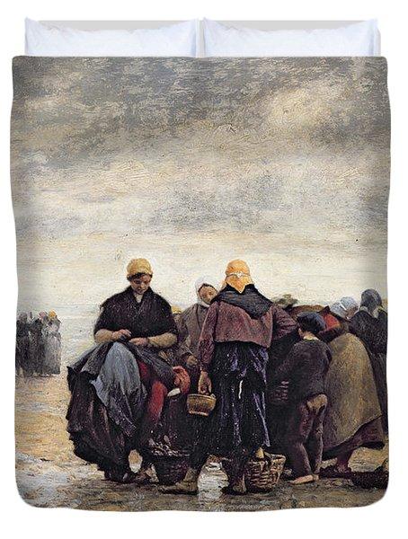 On The Shore Duvet Cover by Jacques Eugene Feyen
