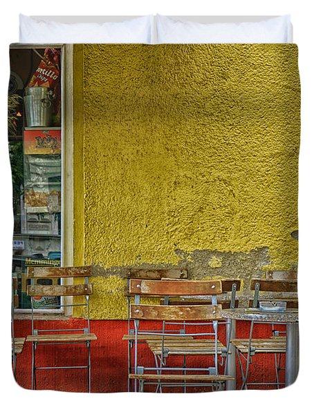 On The Sidewalks Of Berlin Duvet Cover