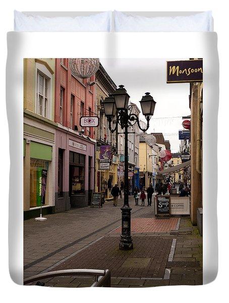 On The Street In Cork Duvet Cover by Rae Tucker