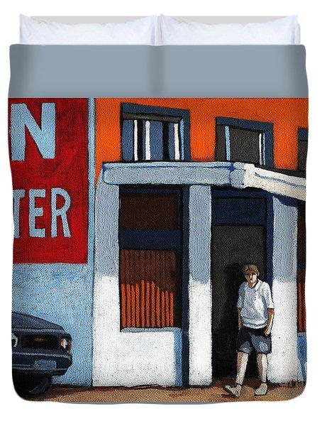 On The Street Duvet Cover