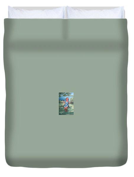On The Swing Duvet Cover