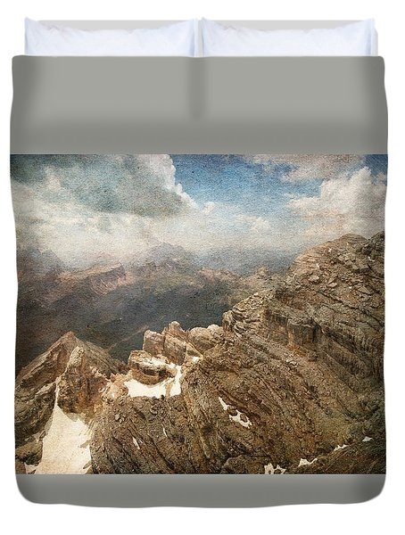 On The Top Of The Mountain  Duvet Cover
