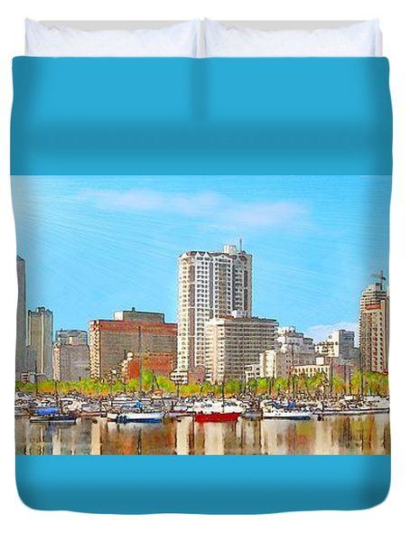 On The Waterfront Duvet Cover