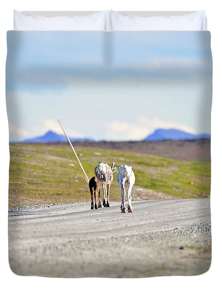 On The Way Duvet Cover