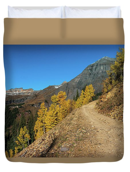 On The Way To Clear Lake In Co - 0056 Duvet Cover